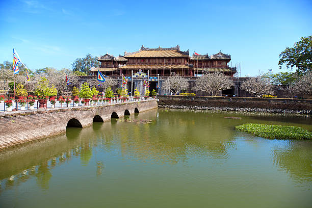 Forbidden city Hue, Vietnam Ancient Forbidden city in Hue, Vietnam huế stock pictures, royalty-free photos & images