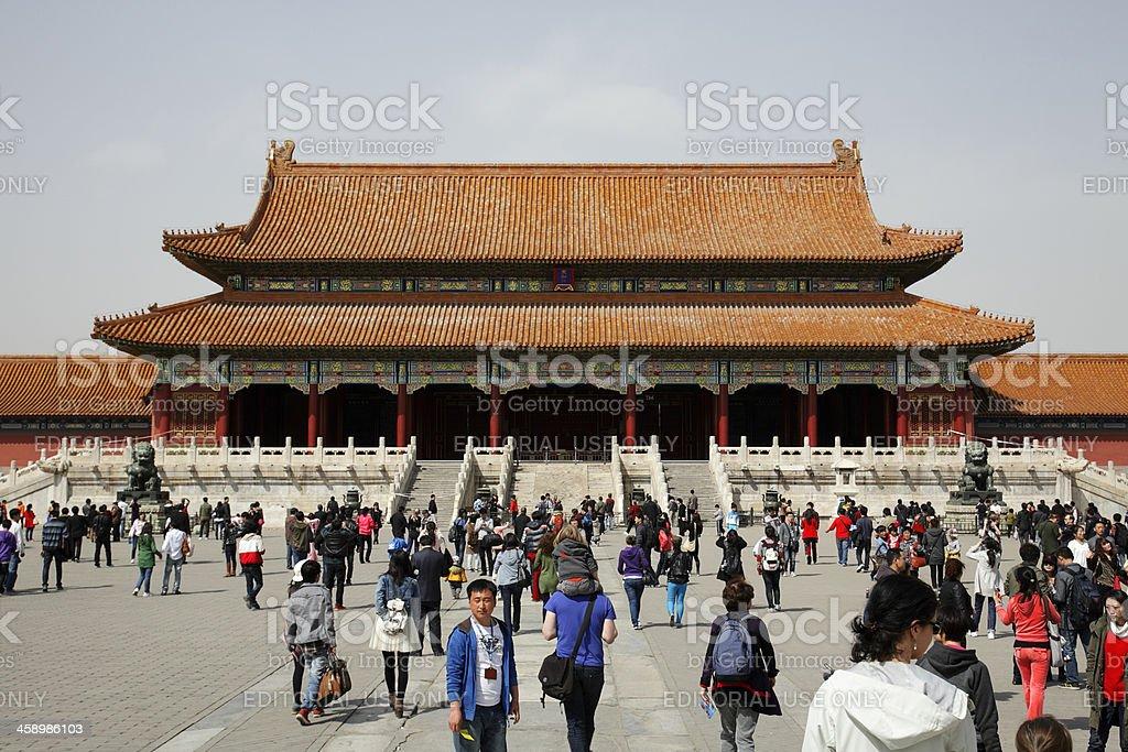 Forbidden City in Beijing China royalty-free stock photo