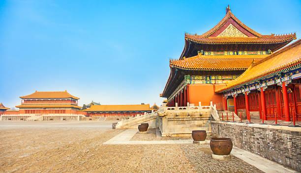 Forbidden City in Beijing North China stock photo