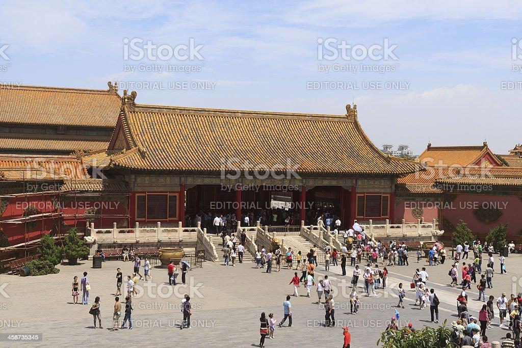 Forbidden City in Beijing royalty-free stock photo