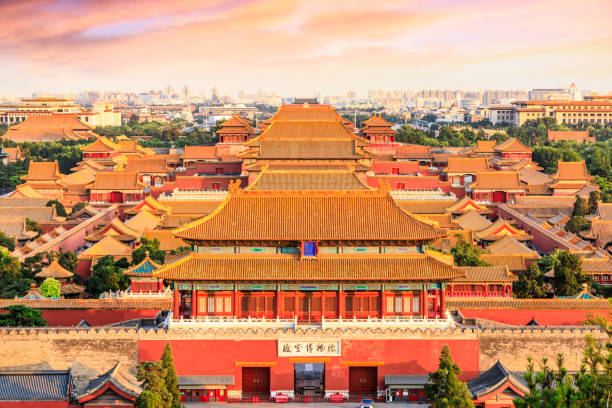 forbidden city in beijing,China forbidden city in beijing,China,high angle view forbidden city stock pictures, royalty-free photos & images