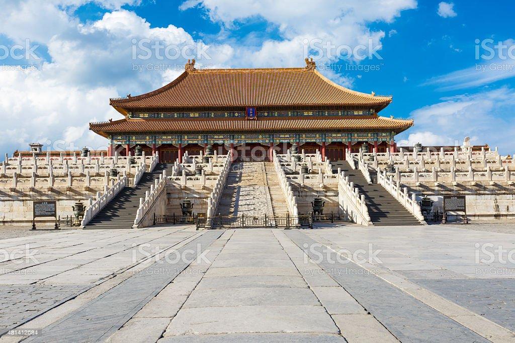 forbidden city in beijing,China stock photo