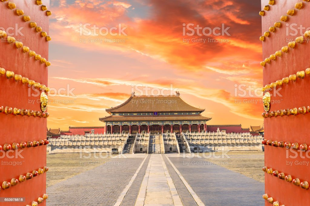Forbidden City in Beijing,China stock photo