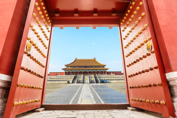 Forbidden City in Beijing,China ancient royal palaces of the Forbidden City in Beijing,China forbidden city stock pictures, royalty-free photos & images