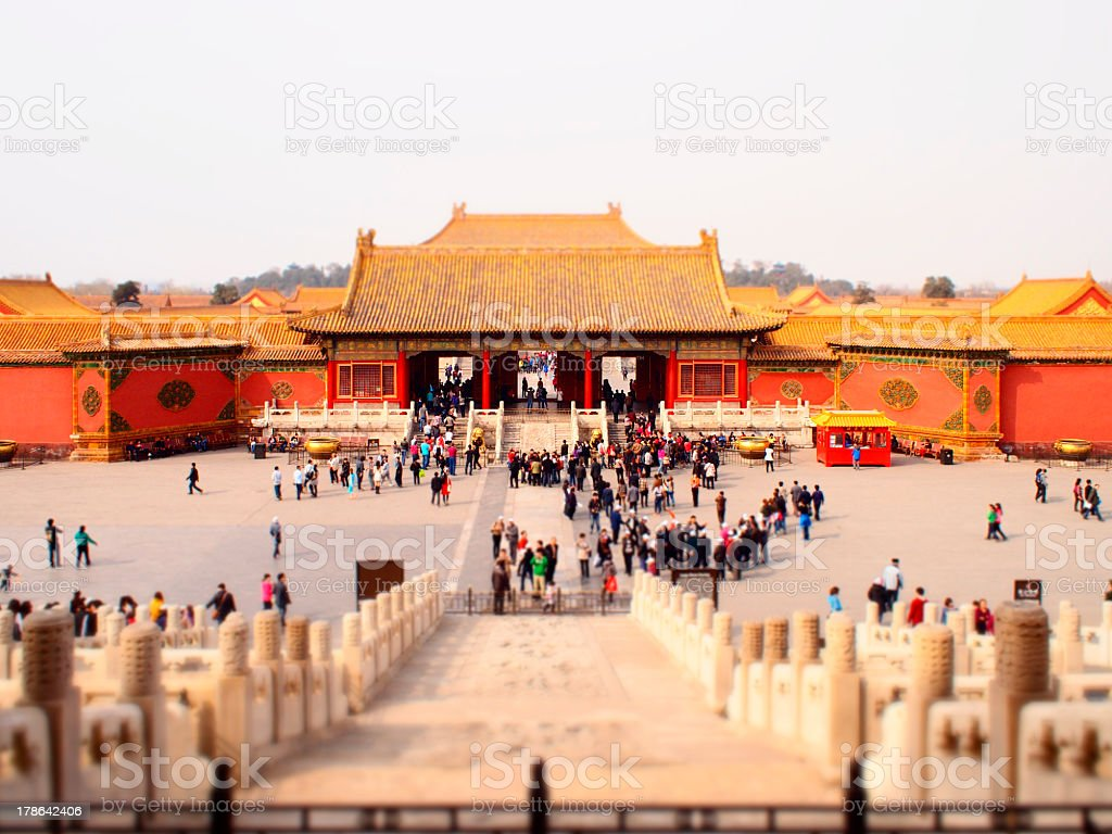 Forbidden City in China royalty-free stock photo