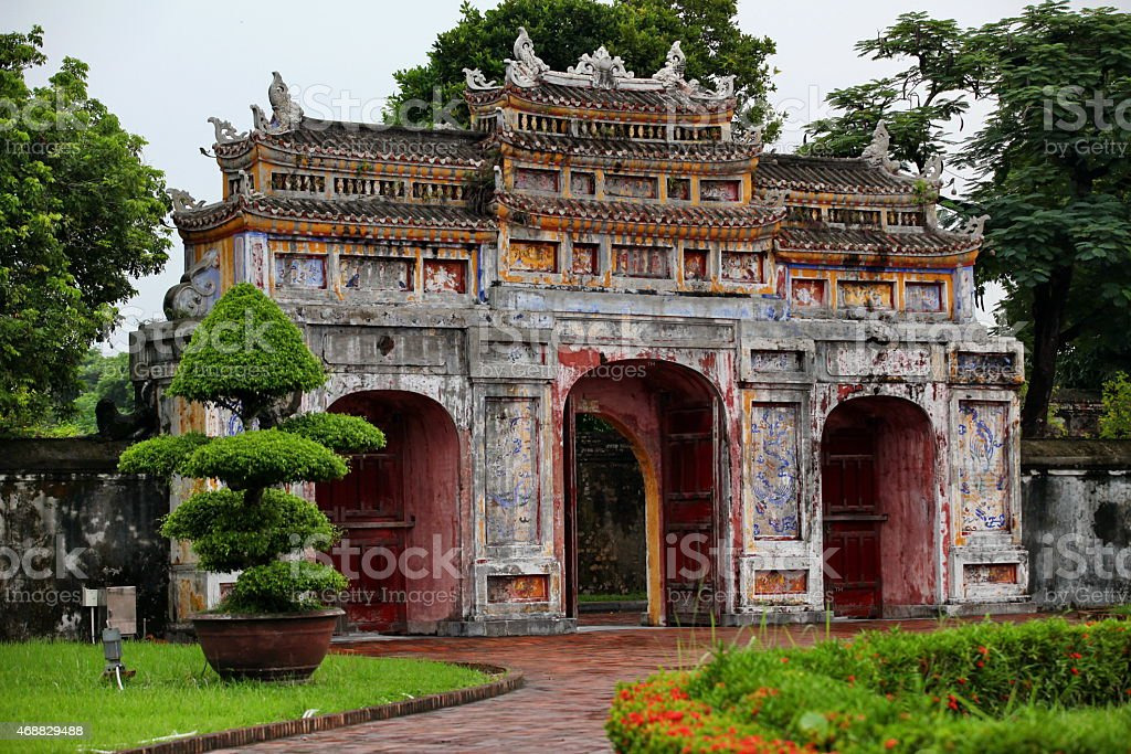 Forbidden City in Hue stock photo
