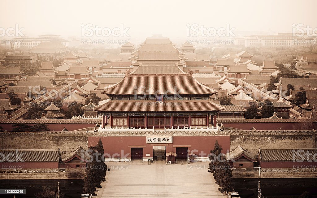 Forbidden city North entrance royalty-free stock photo