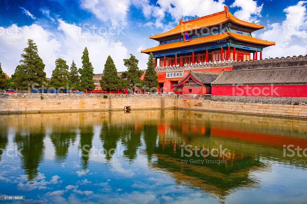Forbidden City of Beijing stock photo