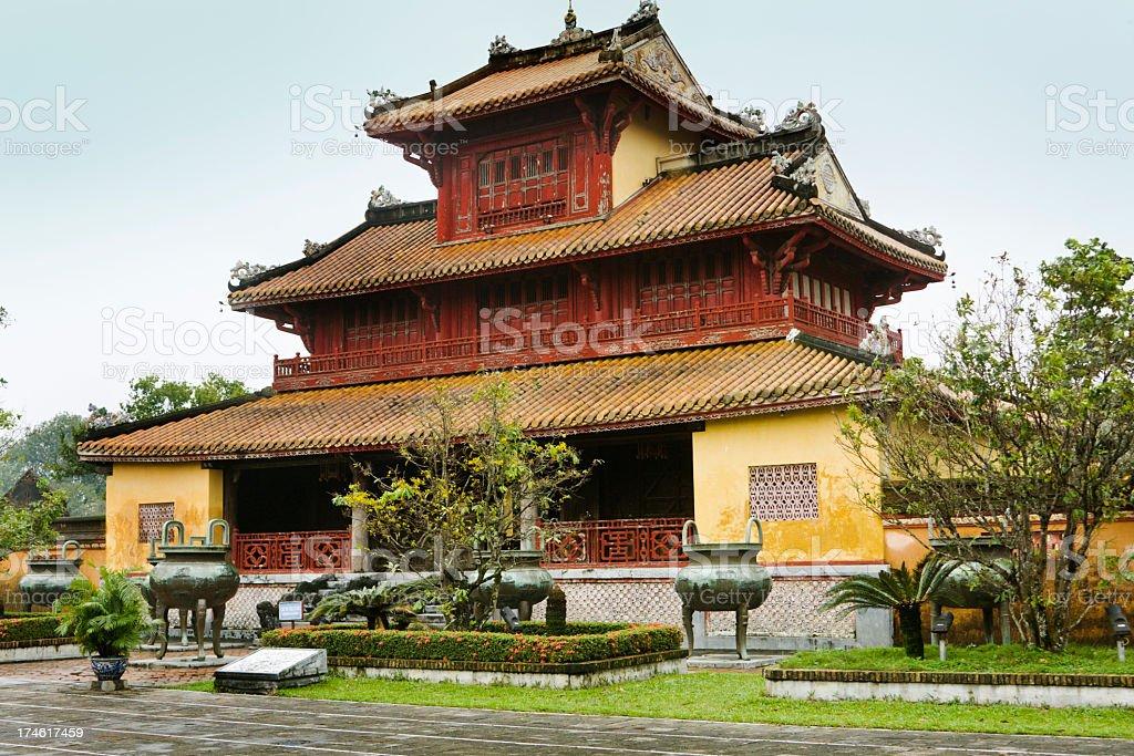 Forbidden City Palace, Hue, Vietnam, Castle Building Architectural Travel Destination stock photo