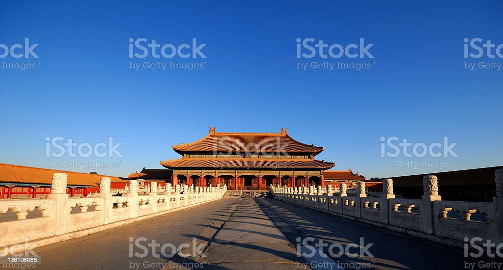 The enchanting Forbidden City in Beijing in the early morning...