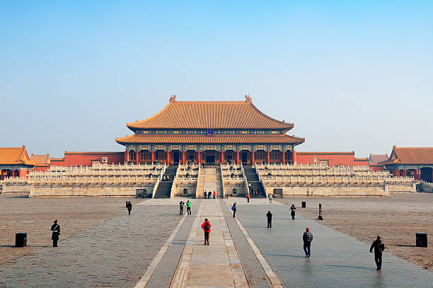 Forbidden City Historical architecture in Forbidden City in Beijing, China. forbidden city stock pictures, royalty-free photos & images