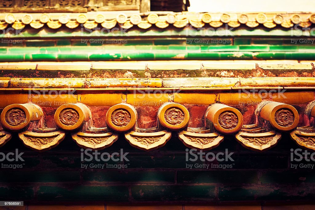 Forbidden City - Roof of palace royalty-free stock photo