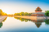 Forbidden City skyline. The Palace Museum. Located in Beijing, China.