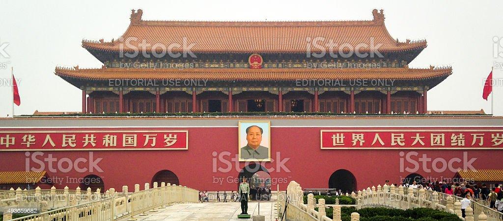 Forbidden City Southern Gate stock photo