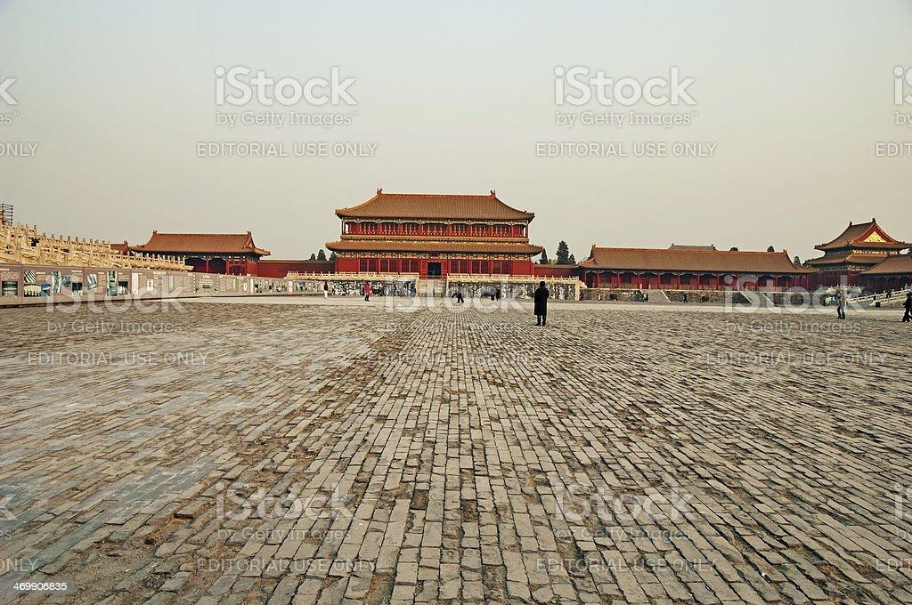 Forbidden City Walkway royalty-free stock photo