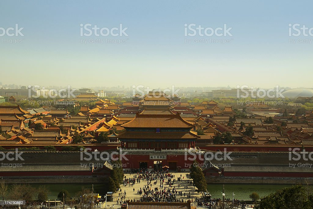 Forbidden City Walls and Gate royalty-free stock photo