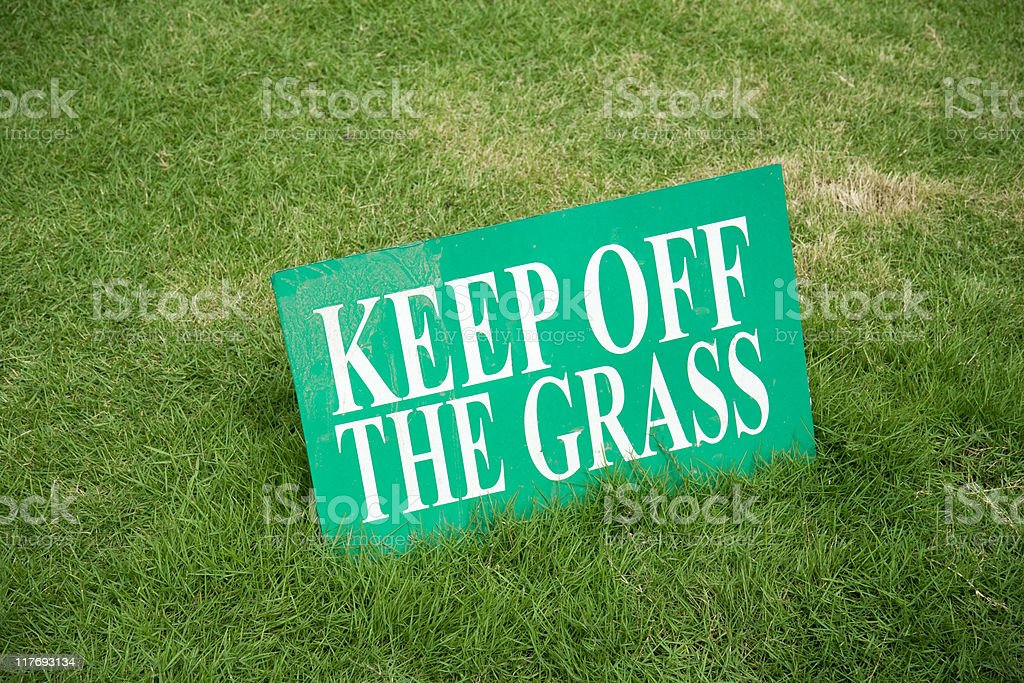 Forbidden grass stock photo