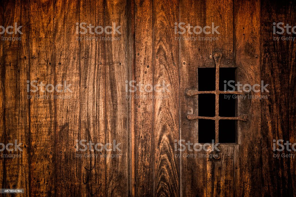 Forbidden medieval window stock photo
