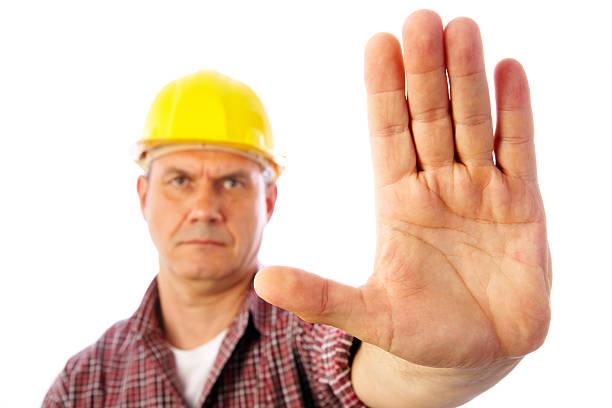 Überwuchert Stopp-Geste – Foto