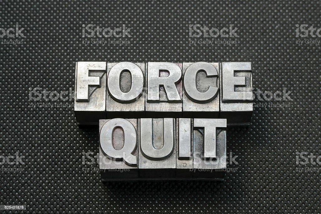 force quit bm stock photo