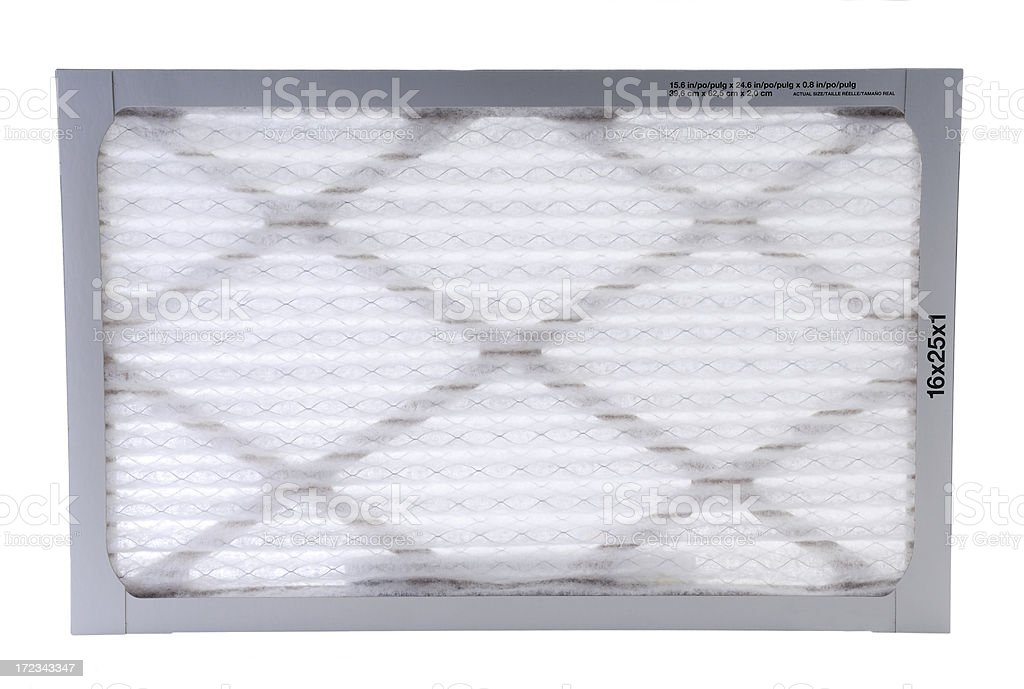 Forced air furnace filter royalty-free stock photo