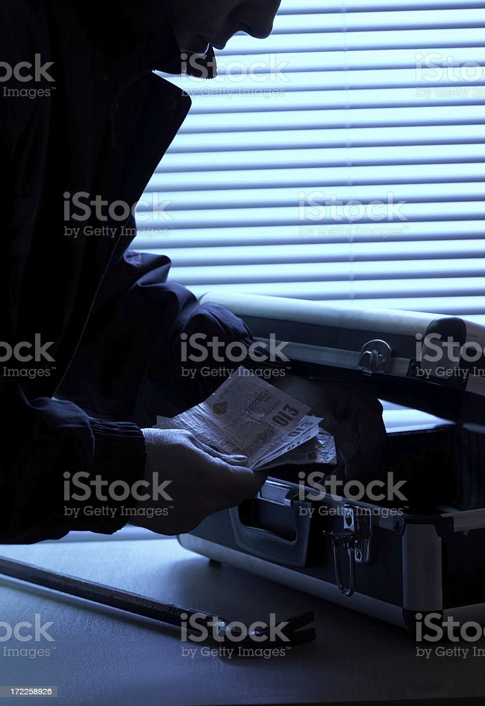 Forced entry royalty-free stock photo