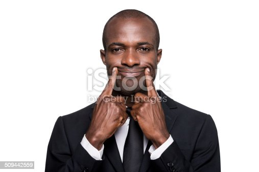 475529255 istock photo Forced smile. 509442559