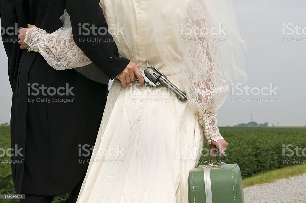 Forced Wedding royalty-free stock photo