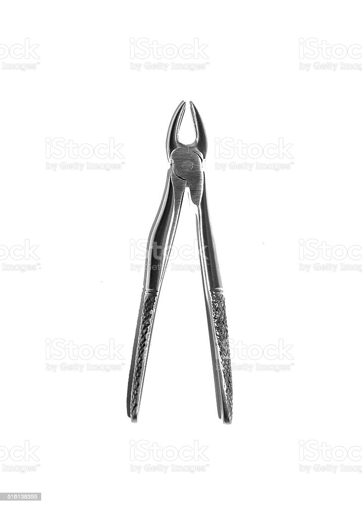 Forcep for extraction of deciduous teeth stock photo