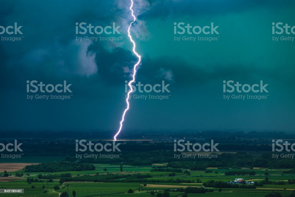 Forces of the storm stock photo