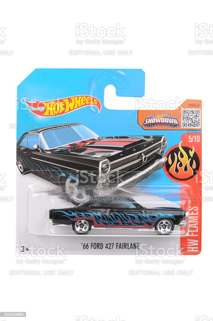 1966 Ford 427 Fairlane Hot Wheels Diecast Toy Car stock photo