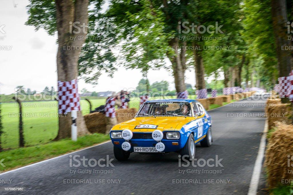 Ford Capri 2600 RS classic rally car stock photo