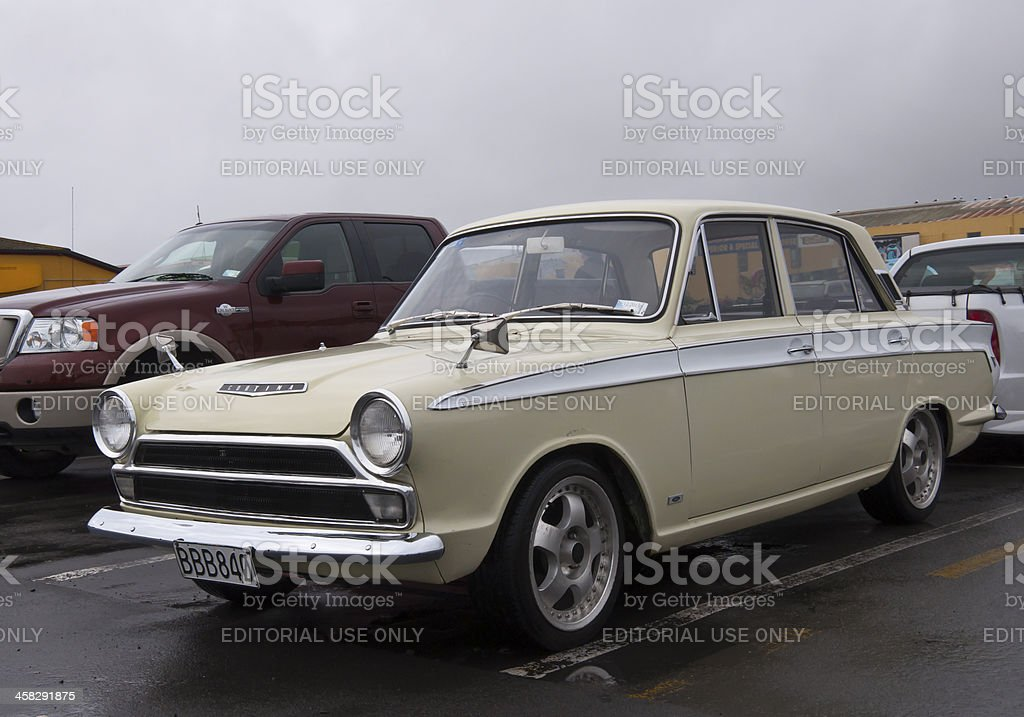Ford Cortina GT from 1965 stock photo