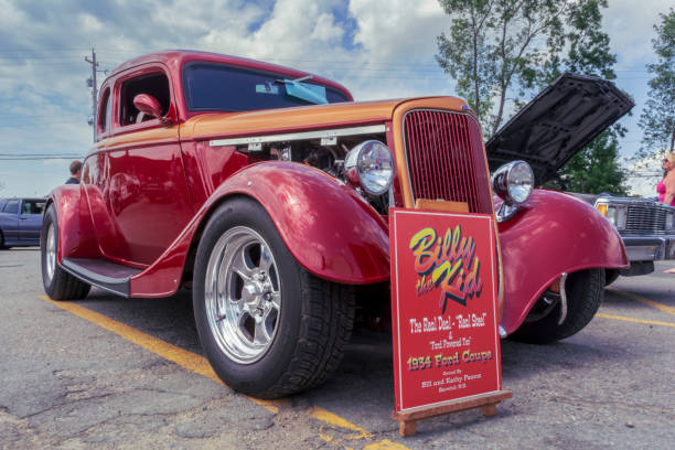 1934 Ford coupe hot rod - foto stock
