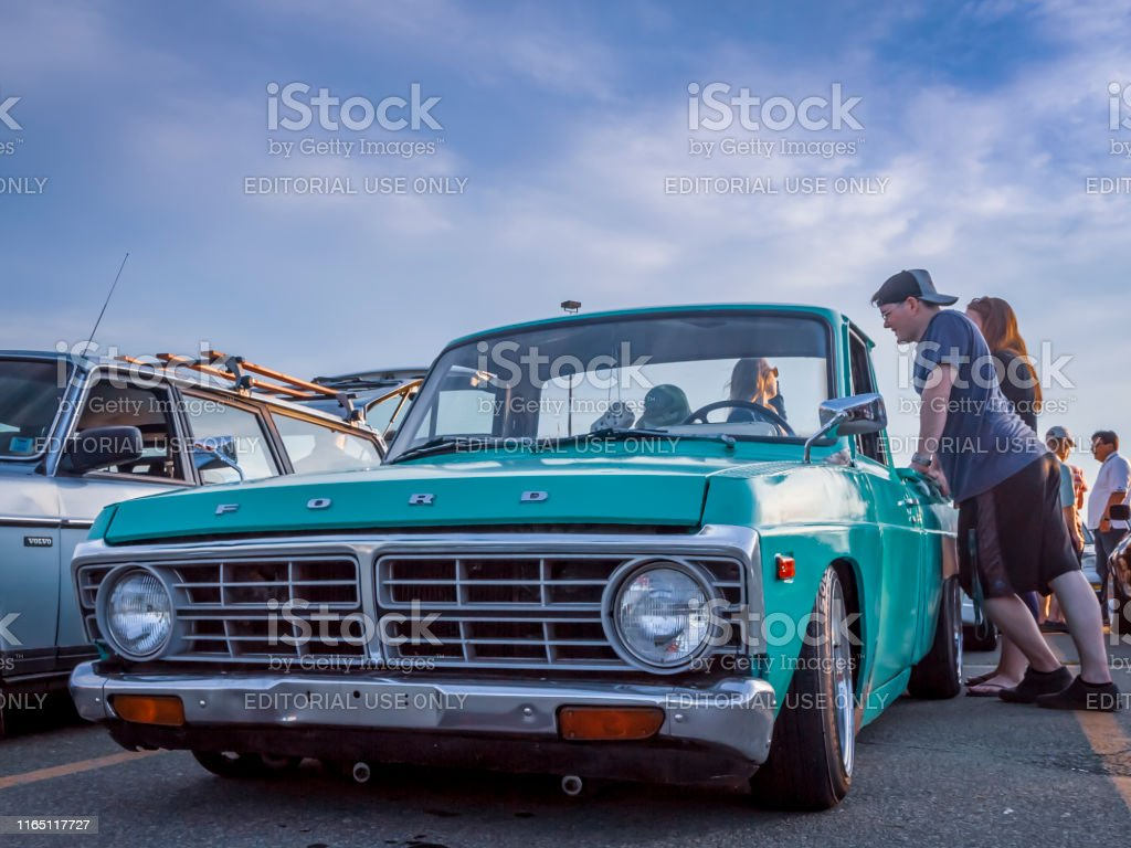 Ford Courier Mini Pickup Truck Lowrider Stock Photo