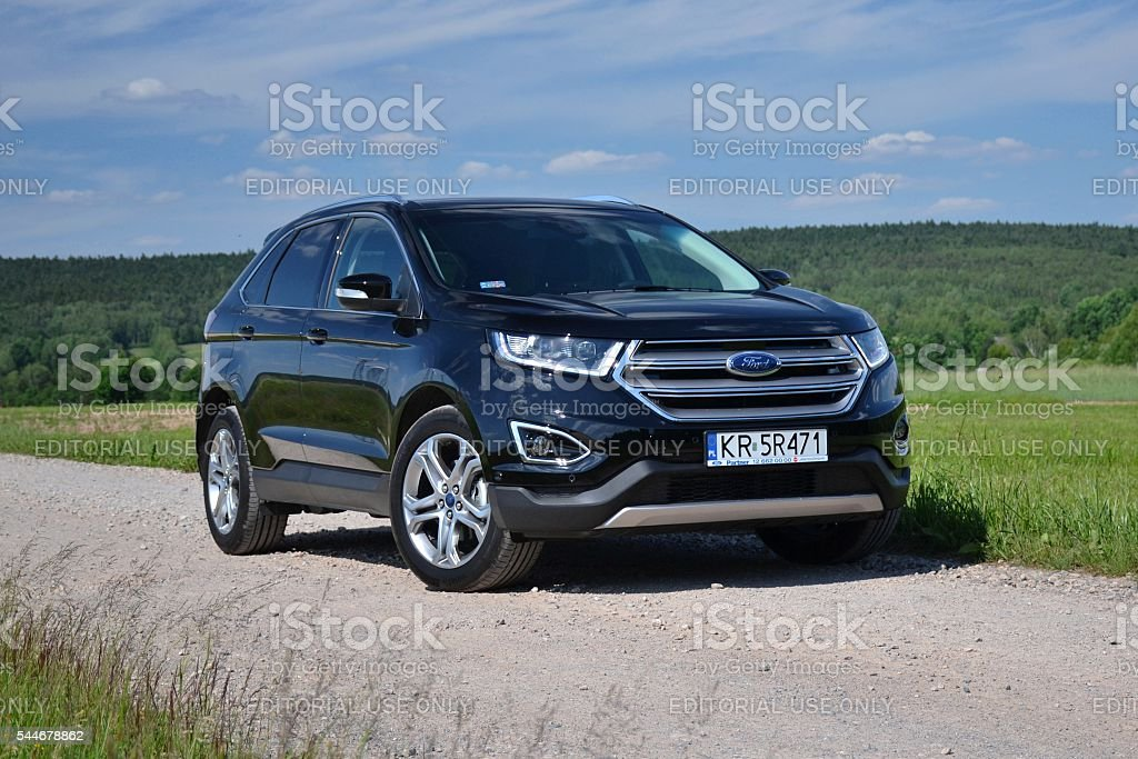 Ford Edge on the road stock photo