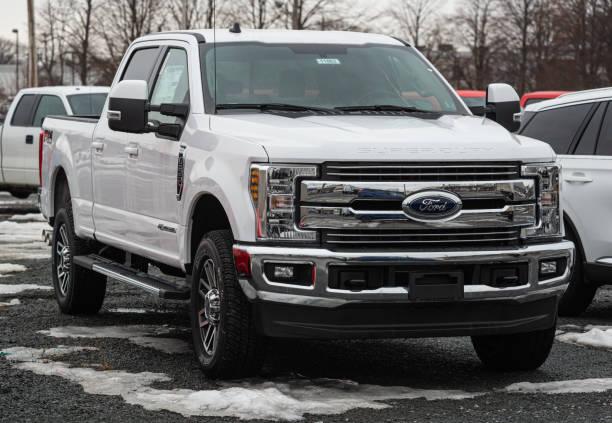 2020 Ford F-250 Pickup Truck stock photo