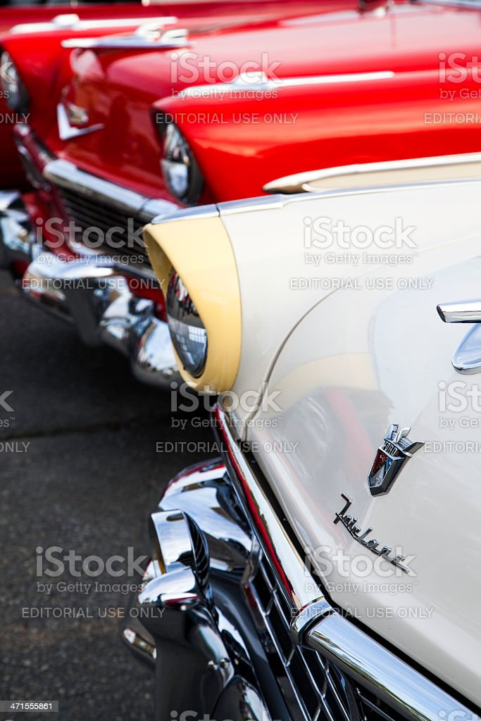 Ford Fairlane and Chevrolet Bel Air stock photo