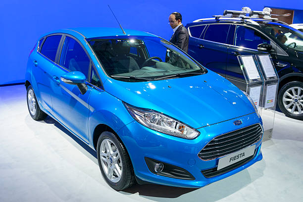 ford fiesta hatchback car - 2015 stock pictures, royalty-free photos & images