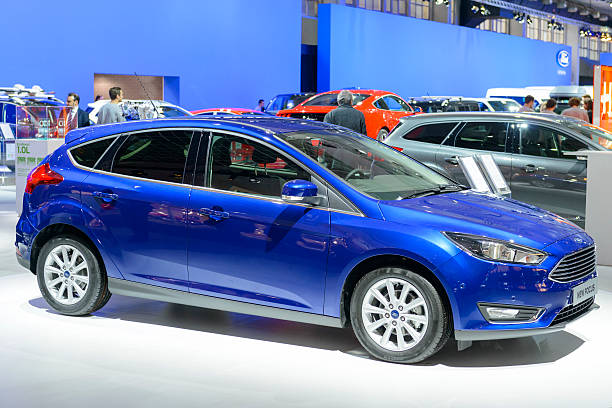 ford focus 5 door hatchback car - ford focus stock photos and pictures