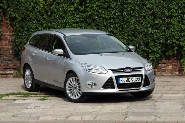 ford focus combi on the parking - ford focus stock photos and pictures