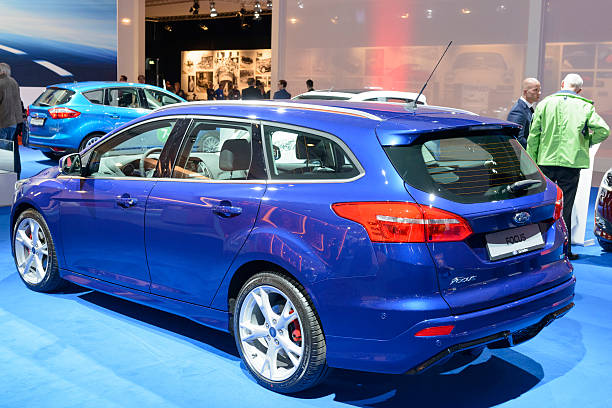 ford focus estate station wagon car - ford focus stock photos and pictures