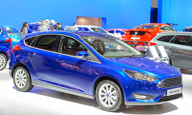 ford focus hatchback car - ford focus stock photos and pictures