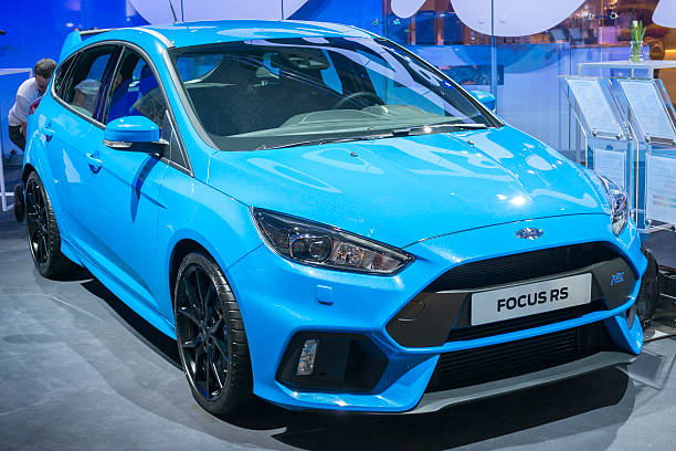 ford focus rs 5 door hatchback car - ford focus stock photos and pictures