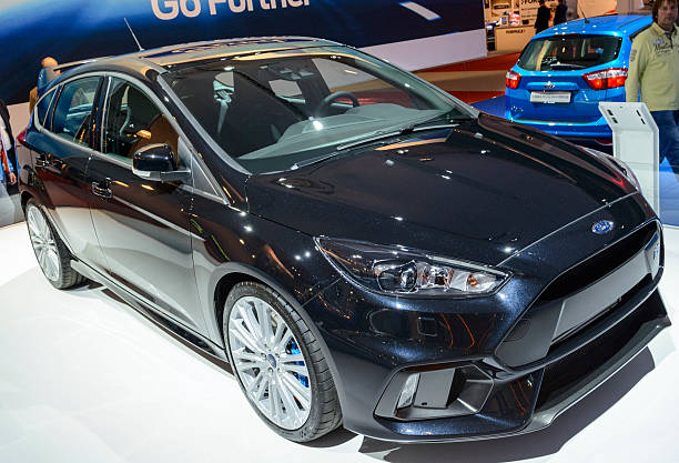 ford focus rs hatchback car - ford focus stock photos and pictures