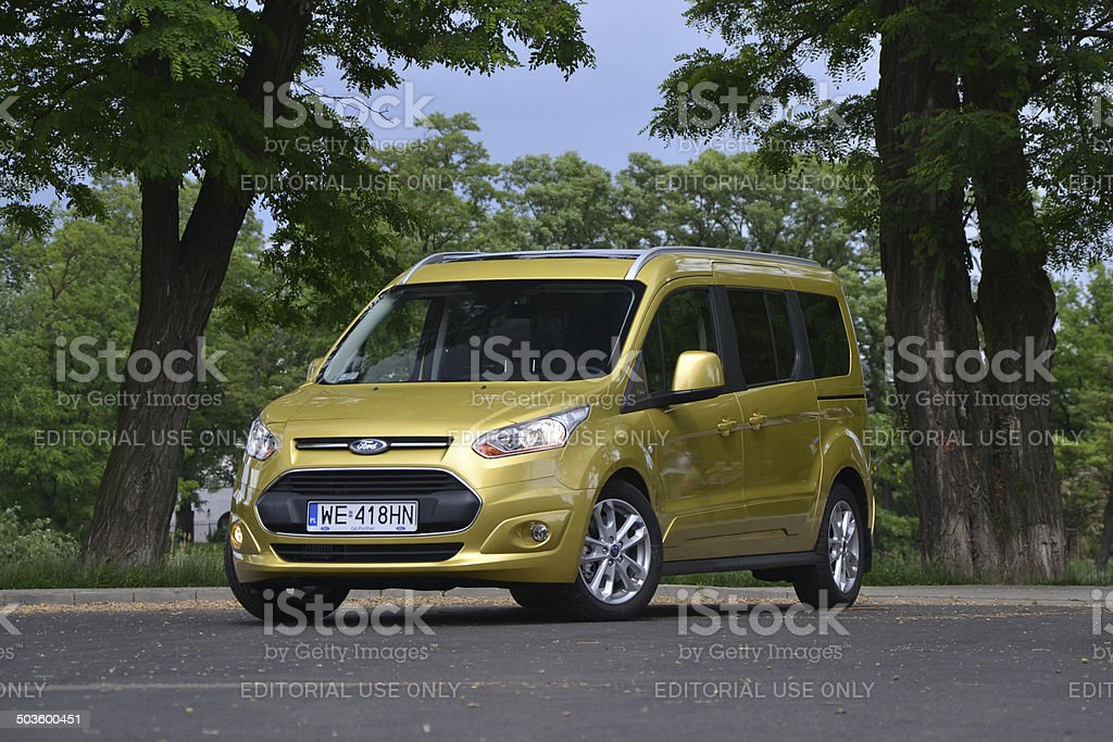 Ford Grand Tourneo Connect At The Test Drive Stock Photo More