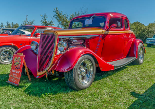 1934 Ford hot rod coupe - foto stock