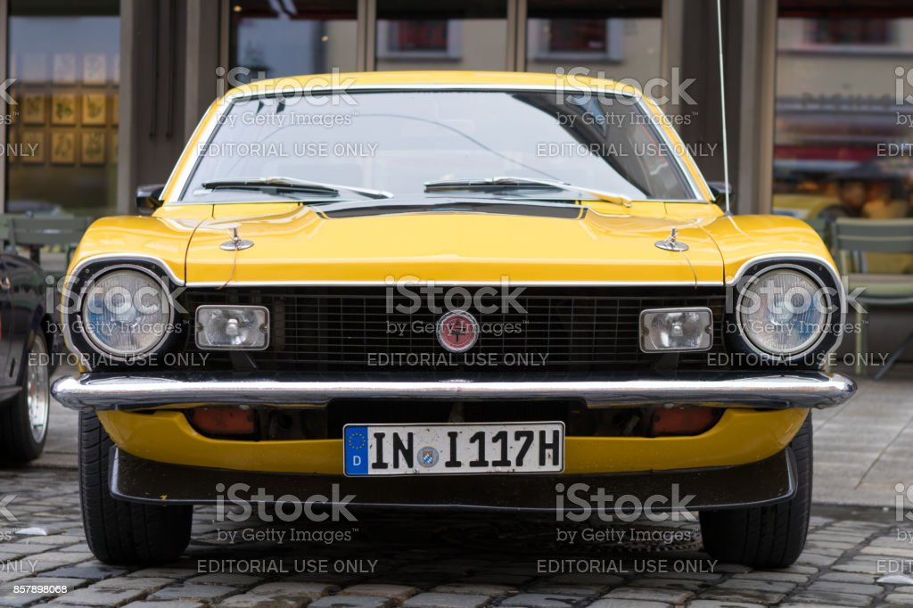 1974 Ford Maverick GT oldtimer car at the Fuggerstadt Classic 2017 Oldtimer Rallye stock photo