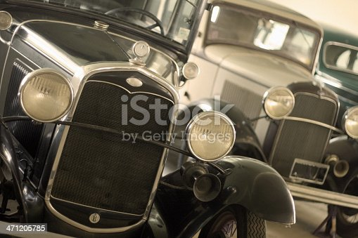 A collection of Ford Model T cars -- the