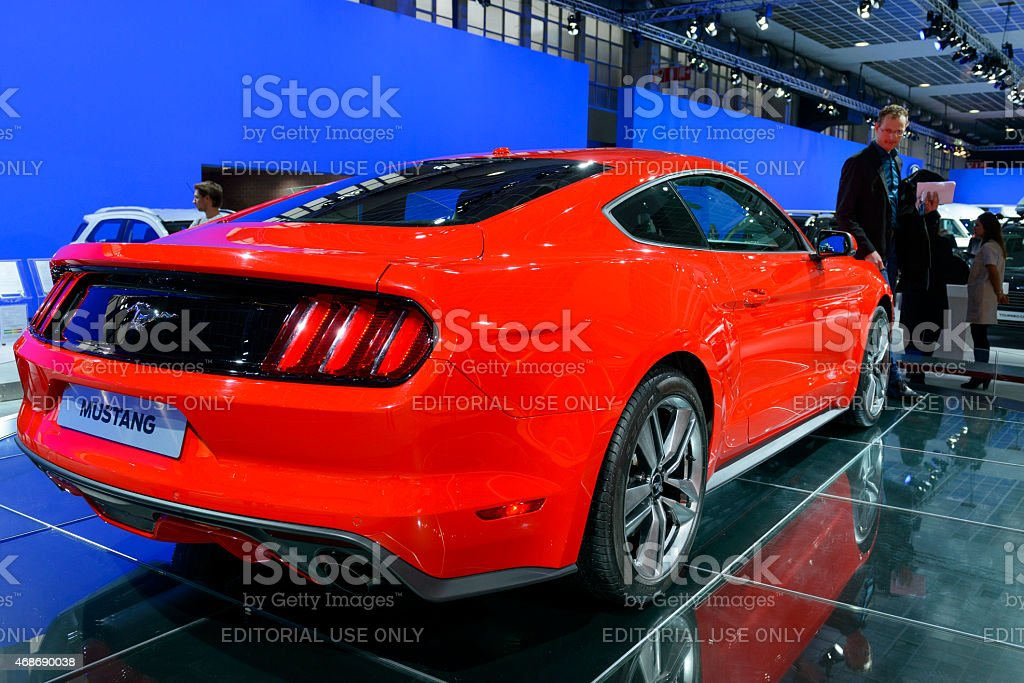 Ford Mustang American Muscle Car Rear View Stock Photo More
